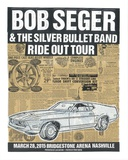 Bob Seger Ride Out Tour Serigraph by  Print Mafia