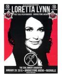 Loretta Lynn Nashville Serigraph by  Print Mafia
