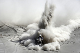South Africa's Van Niekerk Rides His Ktm During the 5th Stage of the Dakar Rally 2013 from Arequipa Fotografiskt tryck av Jacky Naegelen