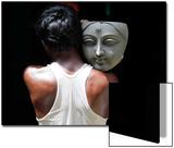 An Artisan Carries a Clay Face of a Sculpture of the Hindu Deity Durga at a Workshop in Kolkata Print by Rupak De Chowdhuri