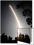 Spectators Watch as a Delta Ii Rocket Launches Off the Pad from Vandenberg Air Force Base Art by Gene Blevins