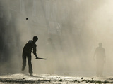 Kashmiri Protester Throws Stones Photographic Print by Danish Ishmail