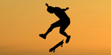 Feature Sport Skateboarding Hoffart Photographic Print by Mike Blake