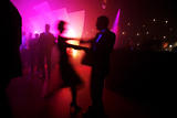 Revellers Dance at an Office Christmas Party in London Photographic Print by Finbarr O'Reilly