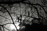 Workers Install Scaffolding at a Construction Site on a Winter Day in Beijing Photographic Print by Jason Lee