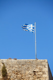 Fluttering Greek Flag Photographic Print by Dmitry Naumov