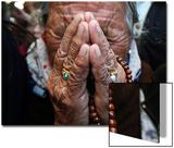 A Tibetan Exile Weeps Art by Mukesh Gupta