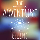 Adventure Quote on Blurred Background Lámina por Rawpixel