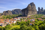 Town of Kastraki, Meteora Mountains in Thessaly, Greece Photographic Print by  ALCE