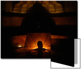 A Man Relaxes at the Rudas Bath During -Night of Baths- in Budapest Prints by Bernadett Szabo