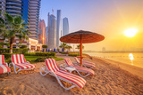 Sunrise on the Beach at Perian Gulf in Abu Dhabi Photographic Print by Patryk Kosmider