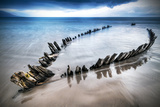 The Sunbeam Ship Wreck on the Beach in Co. Kerry, Ireland Photographic Print by Patryk Kosmider