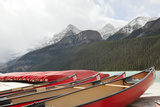 Lake Louise Banff Canoe Dock Photographic Print by  nickjene