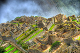 Zooming in the Ruins of the Lost City of Machu Picchu, Peru in HDR Photographic Print by  aharond