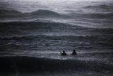Surfers Wait to Catch a Wave Photographic Print by Amir Cohen