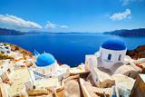 Oia Town on Santorini Island, Greece. Aegean Sea Photographic Print by Photocreo Bednarek