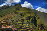 The Terraces in the Incan Lost City of Machu Picchu in HDR Photographic Print by  aharond
