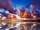 Sky Reflected in the Water at Sunset Photographic Print by Gabriele Maltinti