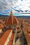 Florence: Landscape with Santa Maria Maggiore Dome HDR Photographic Print by  gabbiere