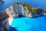 Navagio Beach in Zakynthos, Greece Fotografisk tryk af  milda79