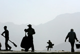 Afghan Construction Workers Work on a Road in Kabul Photographic Print by Ahmad Masood