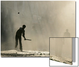 Kashmiri Protester Throws Stones Prints by Danish Ishmail