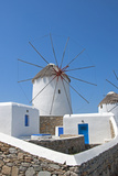 Windmill in Mykonos, Greece Photographic Print by  panosmix