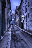 Old Quebec Street at Night, Hdr Photographic Print by  michelaubryphoto