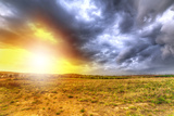 Cloudy Sunset over the Meadow in Poland Photographic Print by Patryk Kosmider
