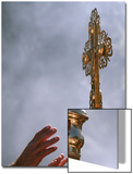 East Orthodox Christian Pilgrims Try to Touch a Crucifix Art by NIKOLAY DOYCHINOV