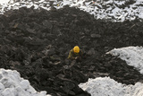 A Worker Searches for Usable Coal at a Cinder Dump Site in Changzhi Photographic Print by Stringer Shanghai