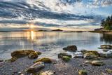 Coastal Sun Star with Rocks Photographic Print by  james_wheeler