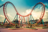 HDR Photo of a Roller Coaster Photographic Print by  eranda