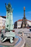 Arion Fountain, Column (Unesco), Olomouc, Czech Republic Photographic Print by  kaprikfoto