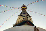 Buddhist Shrine Swayambhunath Stupa - Vintage Filter. Photographic Print by  lora_sutyagina