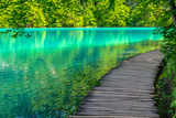 Pond at Plitvice Lakes National Park in Spring Photographic Print by  zkbld