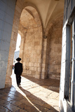 Man Walking through Jaffa Gate - Jerusalem, Israel Photographic Print by  EvanTravels