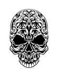 Illustration of a Skull with Patterns. Posters by  MargaritaSh