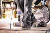 Guitar Case Stage Feet Photographic Print by Tammy Parditka