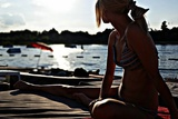 Young Blonde Woman Enjoy in the Sun Photographic Print by  glisic_albina