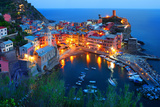 Cinque Terre, Vernazza at the Blue Hour Photographic Print by  TessarTheTegu