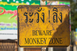 Beware Monkey Zone Photographic Print by  EvanTravels