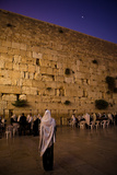 Men Praying at the Wailing Wall, Jerusalem Photographic Print by  EvanTravels