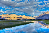 Nubra River in Nubra Valley in Himalayas Photographic Print by  f9photos
