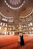 Interior of Sultanahmet Mosque - Istanbul Turkey Photographic Print by  EvanTravels
