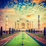 Taj Mahal on Sunrise Sunset, Agra, India Photographic Print by  f9photos