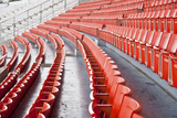 Seats on Main Stand of Public National Stadium. Photographic Print by  isuaneye