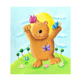 Cute Bear Dancing in the Park Posters by  andreapetrlik