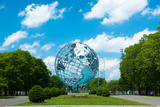 1964 New York World's Fair Unisphere in Flushing Meadows Park Lámina fotográfica por  EvanTravels