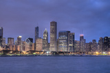 Downtown Chicago at Night Photographic Print by Jesse Kunerth